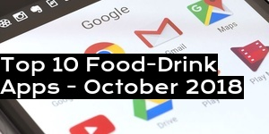 Top 10 Food-Drink Apps - October 2018