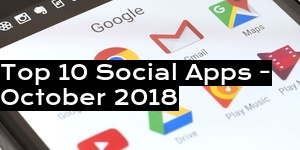 Top 10 Social Apps - October 2018
